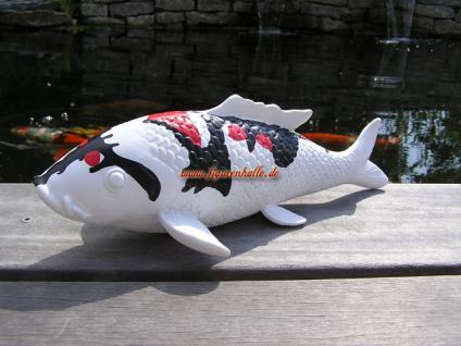 Japan Showa Sanshoku Koi Karpfen Figur Teichdekoration Fisch Statue - Vorschau 4