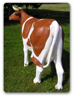 Kuh Lebensgroß Dekofigur Statue Braun Figur - Vorschau 5
