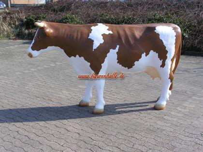 Riesen Kuh als Werbeaufsteller in braun weiß Lebensgroß Figur - Vorschau 1