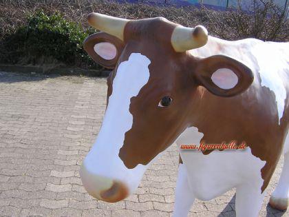Riesen Kuh als Werbeaufsteller in braun weiß Lebensgroß Figur - Vorschau 2