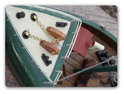 Fischkutter Kutter Modellschiff Modell Holz Schiff - Vorschau 4