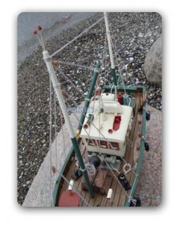 Fischkutter Kutter Modellschiff Modell Holz Schiff - Vorschau 5
