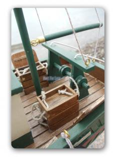 Fischkutter Kutter Modellschiff Modell Holz Schiff - Vorschau 3