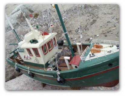 Fischkutter Kutter Modellschiff Modell Holz Schiff - Vorschau 2