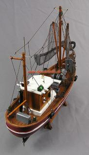 Modell Deutscher Fischkutter Cux87 rot Modellschiff Maritim Deko - Vorschau 5