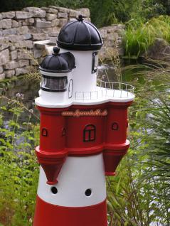 Leuchtturm roter Sand Dekofigur Maritime Deko - Vorschau 2