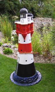 Leuchtturm roter Sand Dekofigur Maritime Deko - Vorschau 1