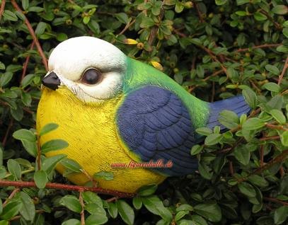Meise Vogel Figur Statue Skulptur Gartendekoration Deko