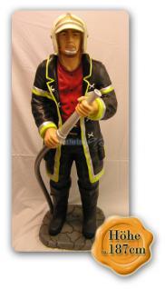 Feuerwehrmann als Dekofigur Lebensgroß Figur Deko - Vorschau 1