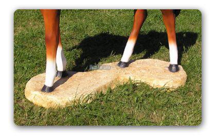 Pferd Lebensgroß mit Sattel Dekofigur Figur Deko - Vorschau 5