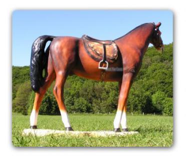Pferd Lebensgroß mit Sattel Dekofigur Figur Deko - Vorschau 2