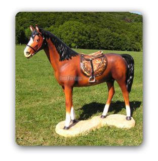 Pferd Lebensgroß mit Sattel Dekofigur Figur Deko - Vorschau 4