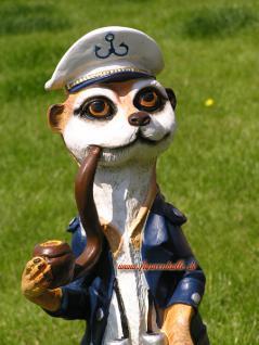 Erdmännchen Figur Statue Maritim Kapitän Seefahrer