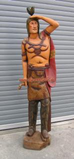 Holz Indianer Figur Statue Apatsche Skulptur Massivholz