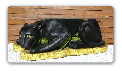 Schwarzer Panther Figur Wonzimmertisch Couchtisch