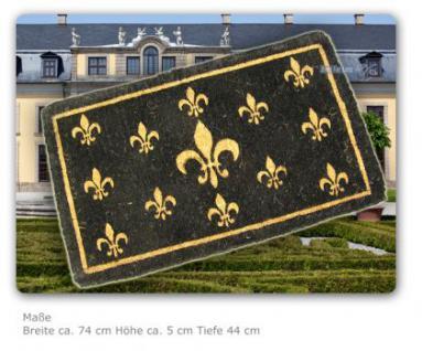 Französische Lilie Kokos Fußmatte Fußabtreter Bodenmatte Schabby Chic Nostalgie Matte Deko