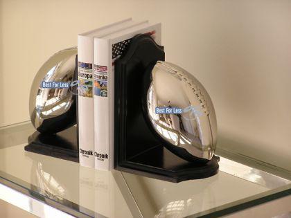 American Football Rugby Buchstützen Chrom Aluminium Super Bowl Fan Deko