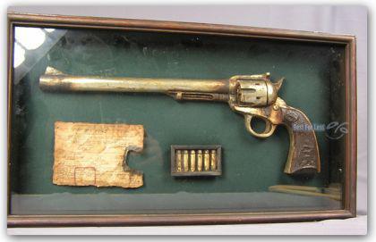 Deko Revolver Country Western Dekoration Pistole - Vorschau 1