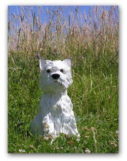 West Highland Terrier Dekofigur Gartenfigur Figur - Vorschau 2