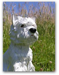 West Highland Terrier Dekofigur Gartenfigur Figur - Vorschau 1
