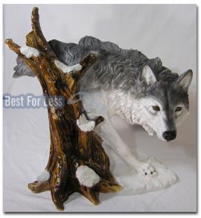 Schöne Wolf Figur im Indianer Style
