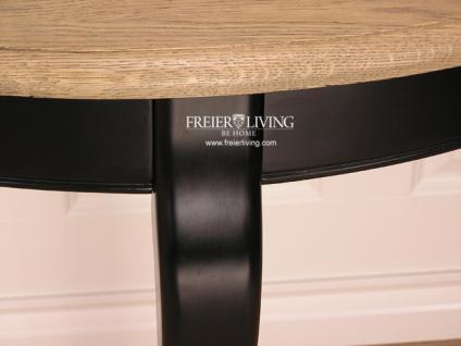 Halbrunder Wandtisch Beistelltisch schwarz Dackelfüsse Biedermeier Nostalgie Stil - Vorschau 3