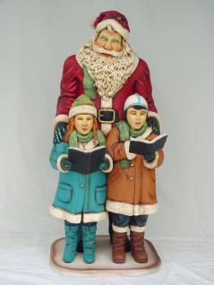 Weihnachtsmann mit Kindern Außendekoration Weihnachts Figur Dekoration Statue