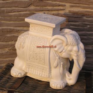 Indischer Elefant als Bestelltisch oder Säule Deko