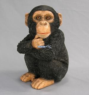 Affe Schimpanse Dekofigur Aufstellfigur Figur