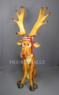 Lustiger Elch Weihnachtsdekoration Figur Winter