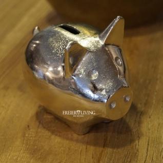 Spardose Sparschwein aufbewahren Geschenk Aluminium Luxus Dekoration