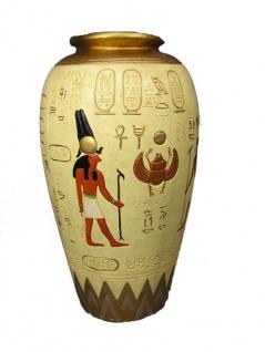 gypten Ägyptische Vase Ampfohre Figur Statue Hieroglyphen Ladeneinrichtung Deko