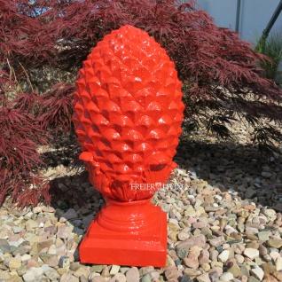 Pinienzapfen Pinien Zapfen Gartendeko rot Pop Art rot Deko Design Moderne Statue neu