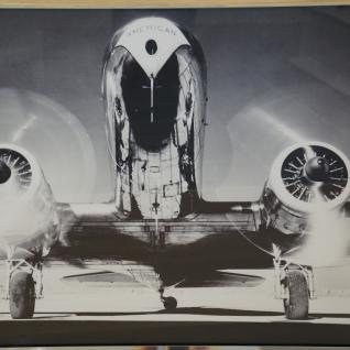 Wandbild Spiegelrahmen Flugzeug Nostalgie Druck Dakota DC-2 American Airlines - Vorschau 2