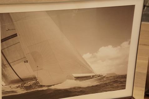 Maritimer Kunstdruck Sylt Segelschiff Spiegelrahmen - Vorschau 2