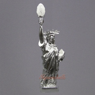 Freiheitsstatue Statue Of Liberty silber Chrom Lackierung Figur USA Deko