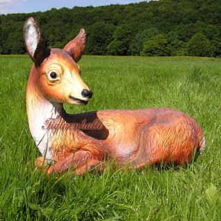 Reh Dekofigur Rot-Wild Statue Figur Rehbock - Vorschau 1