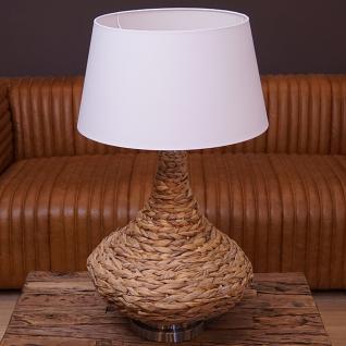 Bast Tischlampe in maritimen Design als Nachttischlampe