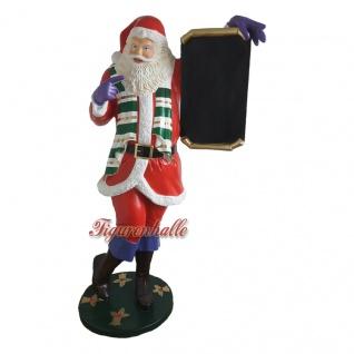 Lebensgroße Weihnachtsmann Figur Weihnachten Dekoration Außenbereich Deko