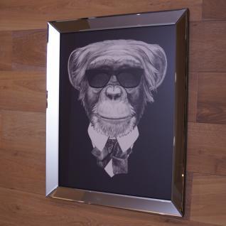 Affe mit Sonnenbrille Wandbild Spiegelrahmen Fotografie
