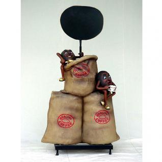 Kaffeebohne Werbefigur Figur Werbeaufsteller Deko