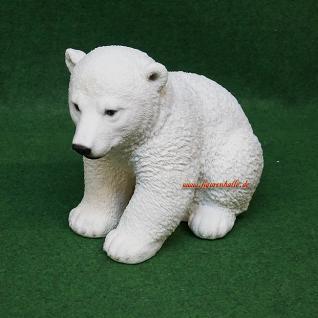 Anktarktis Eisbär sitzend Figur Statue Skulptur Deko - Vorschau 3