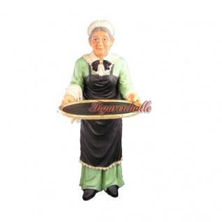 Oma als Butler Figur für drin und draußen