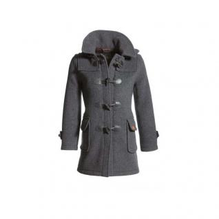 Damenjacke Dufflecoat Grau Wolle Gr 42