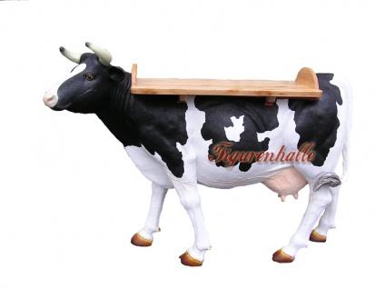 Kuh Lebensgröße Dekofigur als Tisch Stehtisch