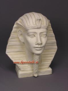 Pharaoh Tutanchamun Büste in weiß Figur