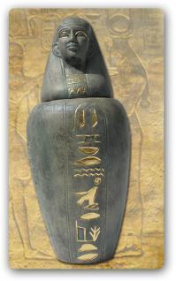 Kanope Amset Urne Figur Skulptur Ägypten Statue Skulptur