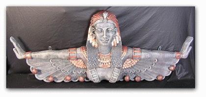 Wandgarderobe in ägyptischer Optik