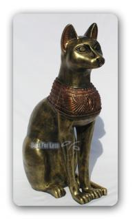 gyptische katze bastet gypten statue figur deko kaufen bei helga freier. Black Bedroom Furniture Sets. Home Design Ideas