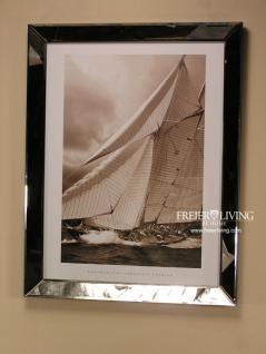 Maritimer Kunstdruck Spiegel Bilderrahmen mit Segelschiff
